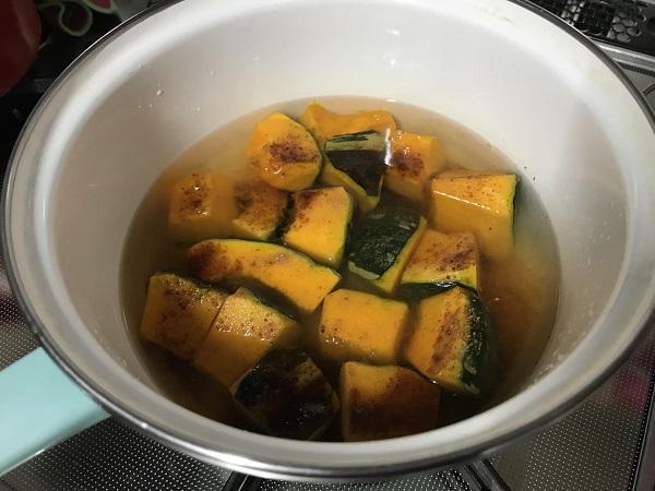 かぼちゃと揚げの煮物作り方