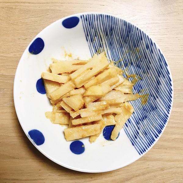 タケノコの辛子味噌和え