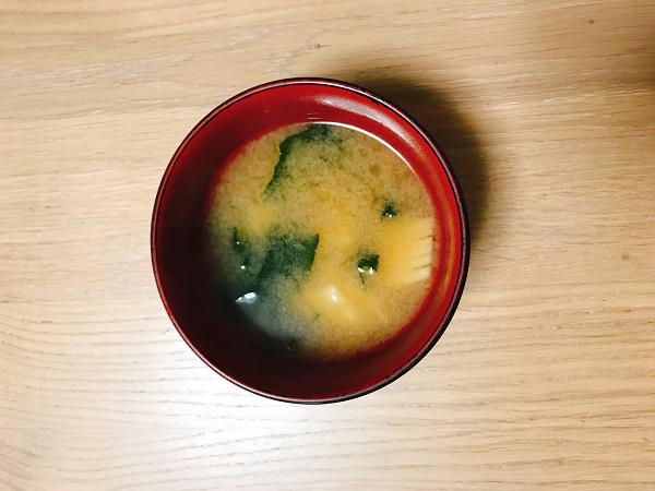 タケノコとわかめのお味噌汁