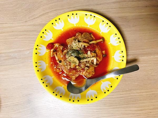 豚肉ときのこのトマト煮込み作り方