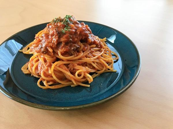 鯖トマトパスタ