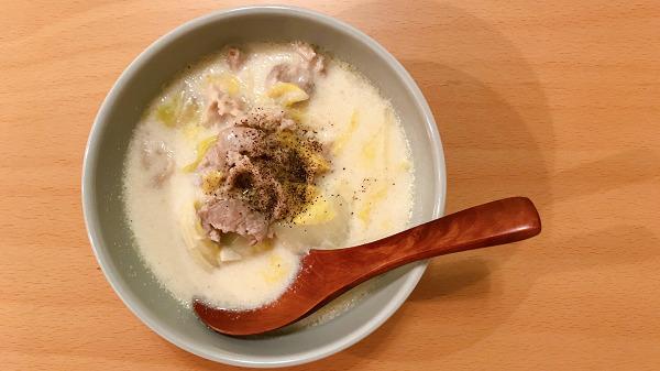 豚肉と白菜のクリーム煮