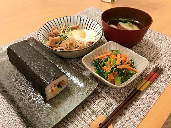 豚肉と水菜の甘辛煮